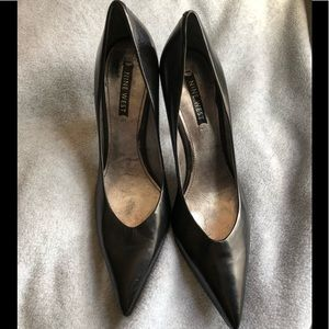 Black pointed nine west heels